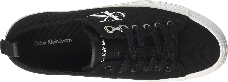 Calvin Klein Jeans Women's Zolah Canvas Blk Low-Top Sneakers Black Black Black R0673blk AfMZsY