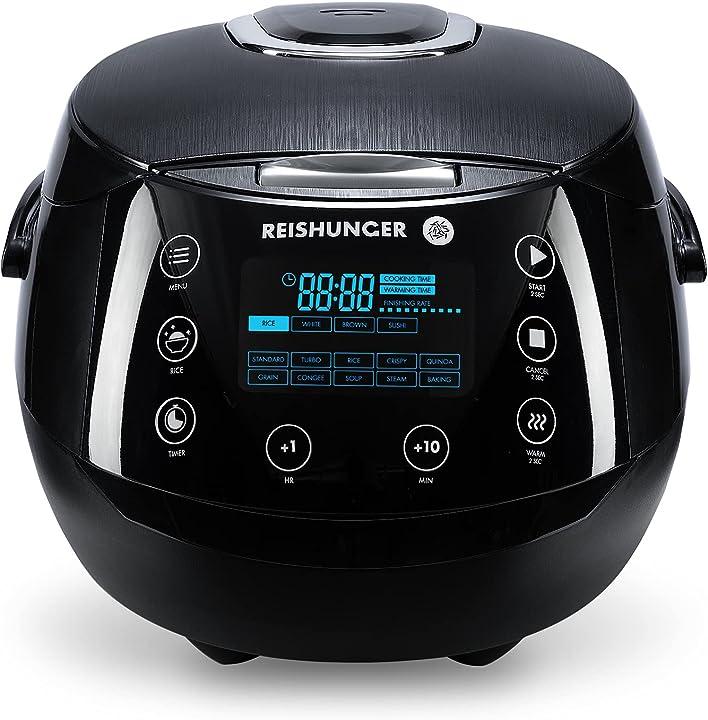Cuociriso digitale reishunger - vaporiera multifunzione fino a 8 persone con 12 programmi tecnologia a 7 fasi B0854FJNSD