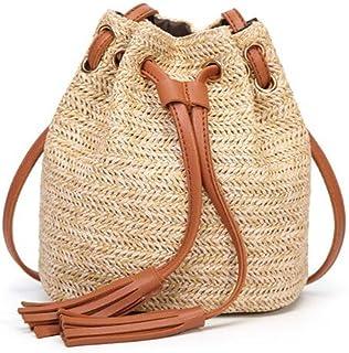 44e024b75668 Women Small Beach Bohemian Round Straw Crossbody Bucket Hobo Bags For Lady  Summer Panier Plage Shoulder