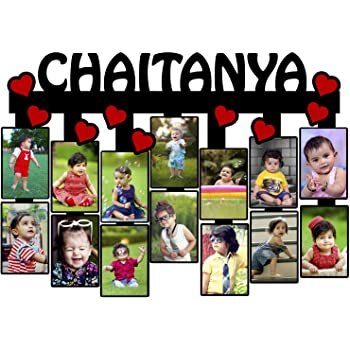 Unique Stuff Customized Photo Frame with Name Collage | Customized Gift Personalized Photo Frame with Name 12.5 x 18 inch