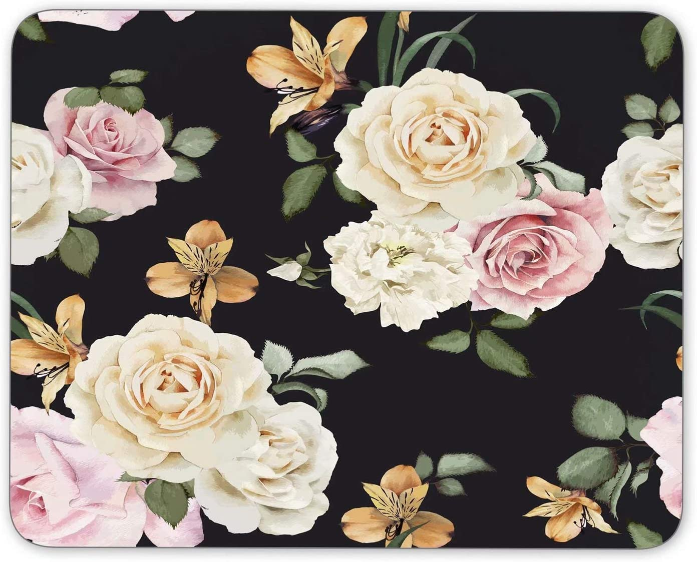 Rose Flower Mouse Pad Customized Base Non-Slip Rubber Mousepad M Inventory cleanup selling sale Max 71% OFF