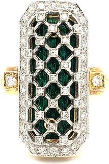 Anello in Oro 18K con Diamanti Naturali SMALTI