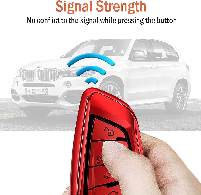 X2 X5 serie 7 serie 2017 y 2 Seris y 6 de TPU color plateado Smart Remote X6 y 5 GT para BMW X1 X3 COVELL Funda para llave de coche BMW de primera calidad suave serie 2018