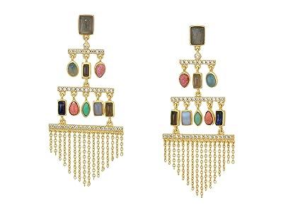 SOLE / SOCIETY Chandelier Earrings (12K Soft Polish Gold/Multicolor) Earring
