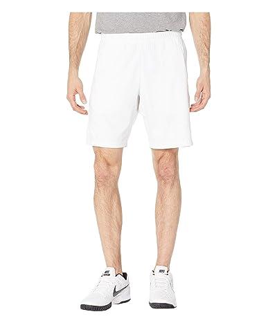 Nike NikeCourt Dry Shorts 9 (White/White/White) Men