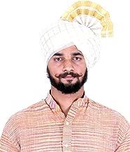 KALAPURI Traditional Cotton White Colored Pheta (Turban/Safa/Pagdi) Good Quality Fabric/Cloth for Men