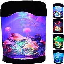 WUSHUN Lavalamp kwallen lamp bijgewerkt lavalamp aquarium lamp kleurveranderende lamp kwallen aquarium sfeerlamp lava lamp...