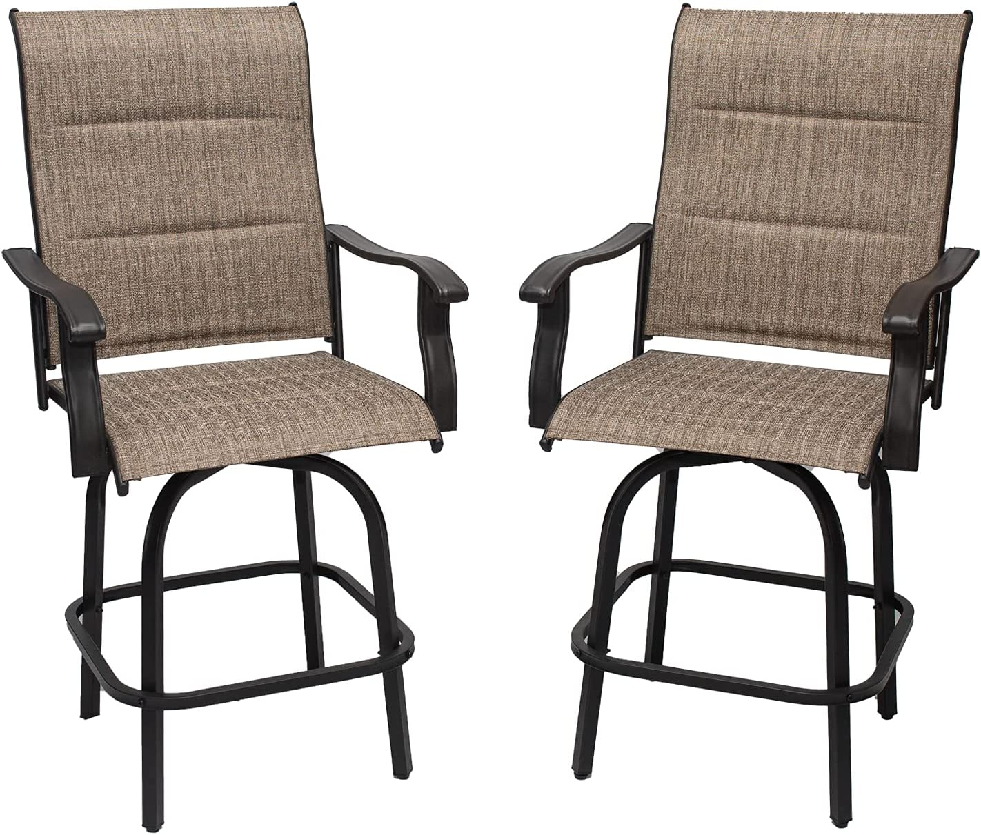 Outdoor San Francisco Mall High Top Sale Patio Bar Stools Height Chairs Swivel