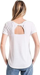 Z Supply Clothing Women's The Triblend Twist Back Short Sleeve T-Shirt
