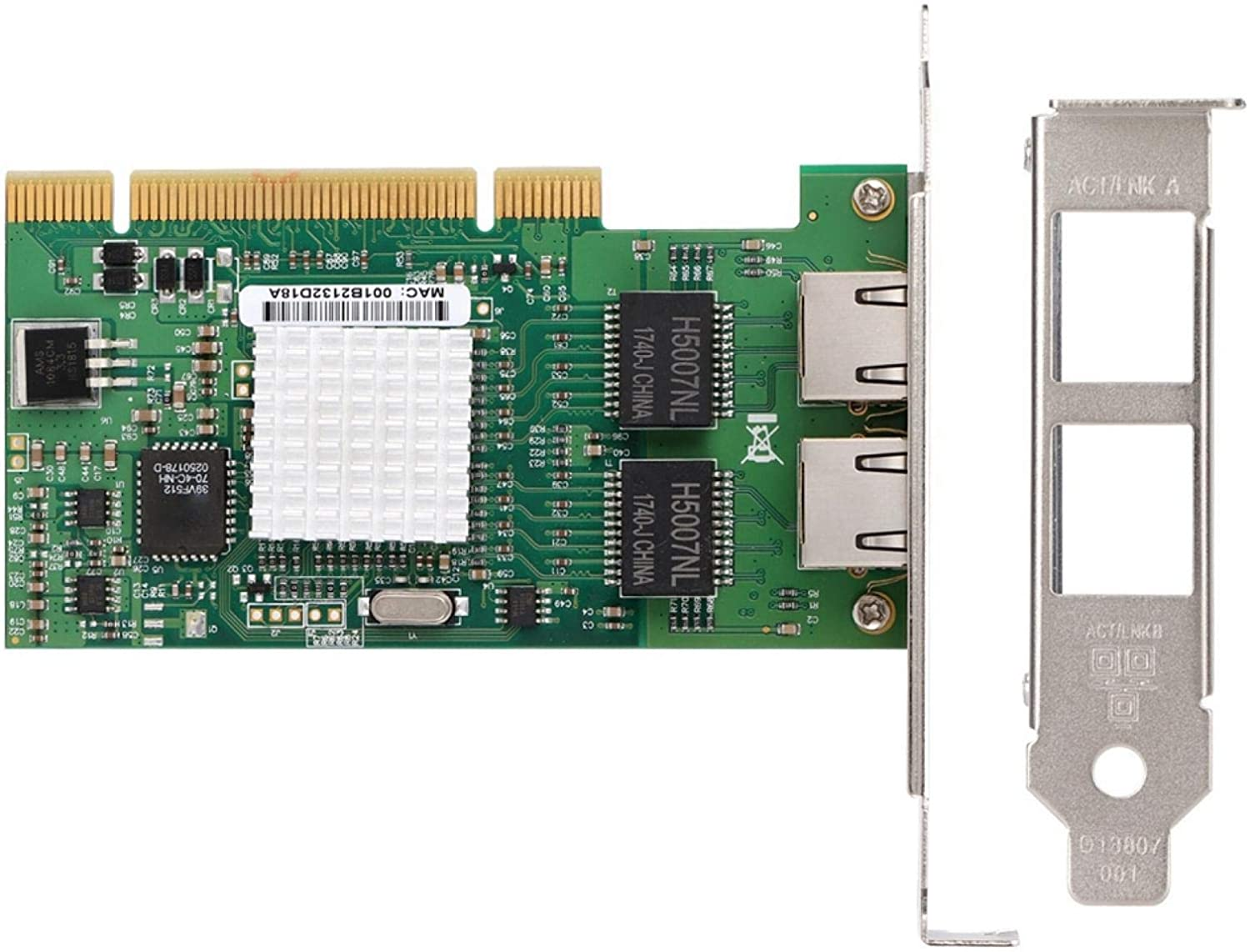 Network Max 51% OFF Card 10 100 1000Mbps LAN Imp 2 LED Genuine with Indicators