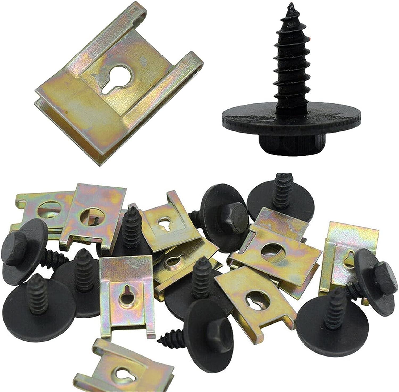 U Popular brand Clip Phoenix Mall Fasteners 40pcs Set Nut Speed B-MW Screw for Fasten Hex