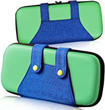 Carrying Case for Nintendo Switch,[Color-Clash Attractive Appearance][Full Protective ][Large Storage] Carrying Case for Switch,Travel Carry Case Bag for Nintendo Switch Joy-Con & Accessories Green