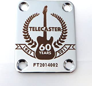Fender Telecaster 60th Anniversary Custom Engraved Neck Plate - Silver