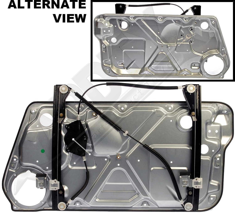 APDTY 850642 Power Window Regulator & Interior Door Panel Assembly Fits Front Left 1998-2002 VW Beetle (All Models) 2003-2010 Volkswagen Bettle Hatchback Only)(Replaces 1C0837655B, 1C0837655C)