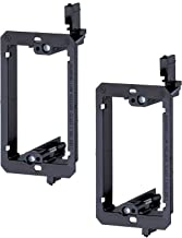 iMBAPrice LV1-2PK Single Gang (1-Gang) Low Voltage Mounting Bracket - Black (Pack of 2)
