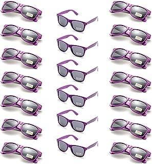 Onnea 20 Piezas Gafas de Sol Fiesta Colores Paquete Años 80 para Mujer Hombres (20 púrpura)