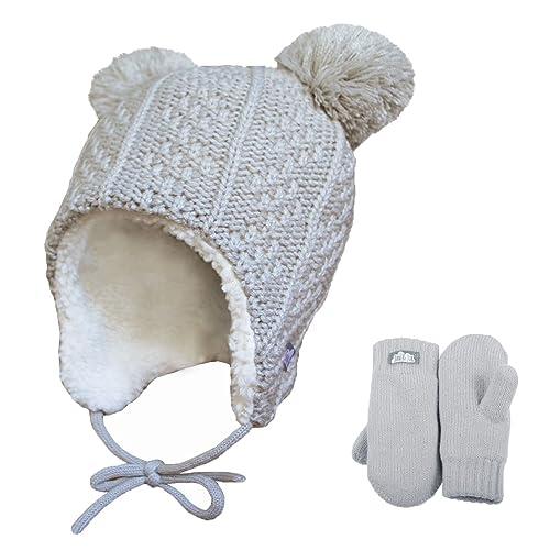 1fb4286e4cf Baby Toddler Warm Fleece-Lined Ear-Flap Beanies
