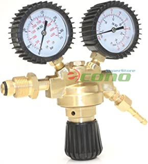Dual Welding Gas Cylinder Brass Regulator Gauges Tig Mig Co2 Argon Mix Gauge