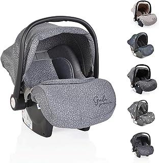 Moni silla de coche bebés Gala Premium, grupo 0+ funda de pie, cojín de asiento, color:gris claro