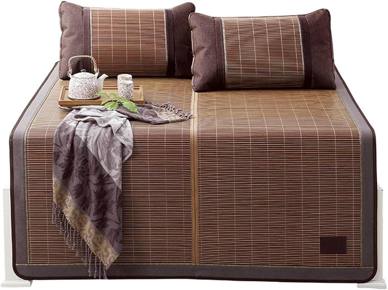 Coole Matratze Bambusmatte Sommer Schlafmatte Faltbare Matte Doppelseitig (ohne Kissenbezüge) Einzelnes Schlafsaal Rattan Matte (für 4,5ft, 5ft, 6.6ft Bet Etc.) Coole Bambusmatte (gre   2.2M Bed)