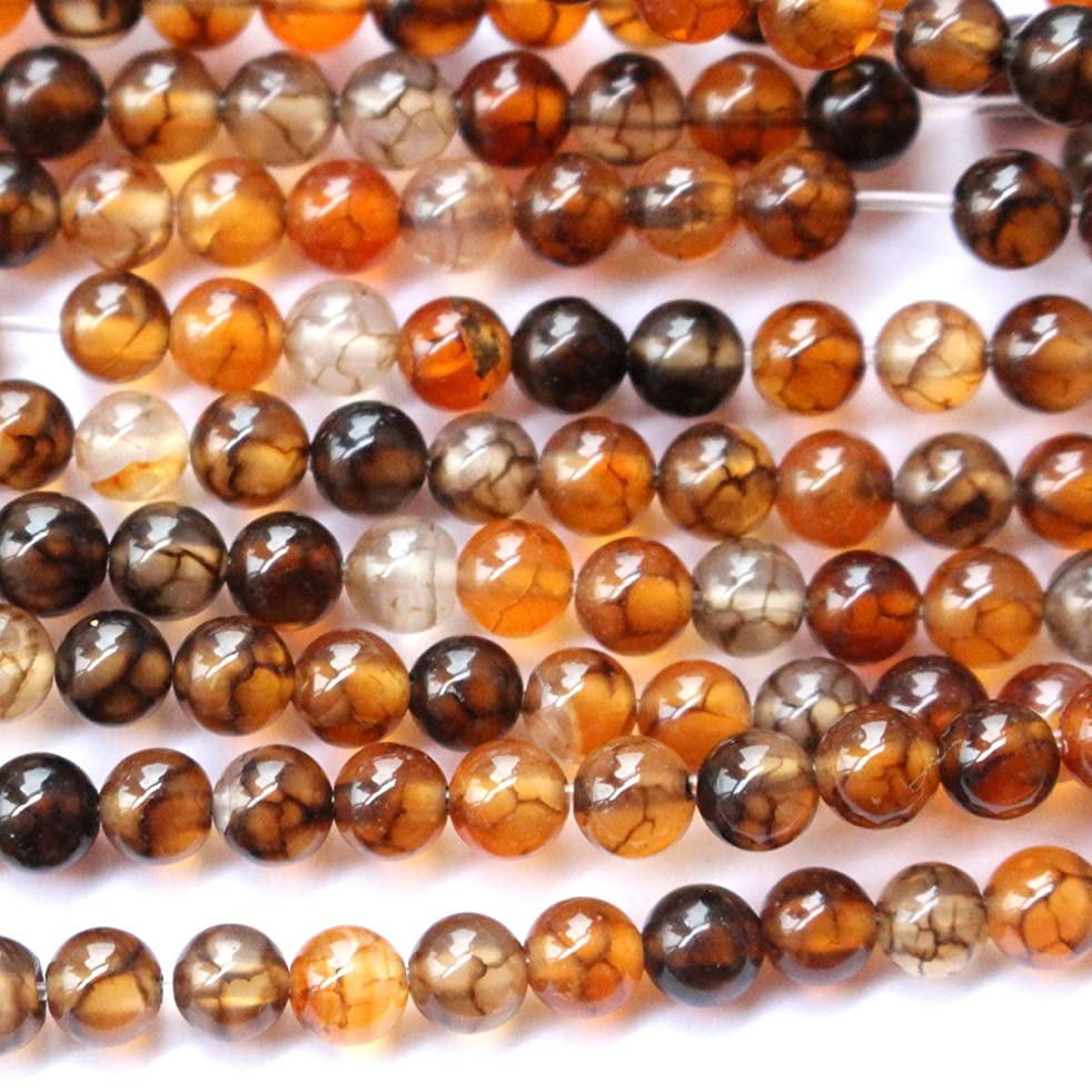 Natural Dragon Vein Agate Round Jewerlry Making Gemstone Beads (4mm)