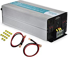 Mophorn 4000 W Pure Sine Wave Power Inverter DC 24V to AC 220V with LED Display USB Port for Household Appliances and Electronics