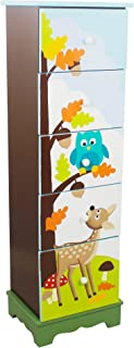 Fantasy Fields - Enchanted Woodland Thematic 5 Drawer Wooden Cabinet for Kids Storage   Imagination Inspiring Hand Crafted & Painted Details   Non-Toxic, Lead Free Water-based Paint