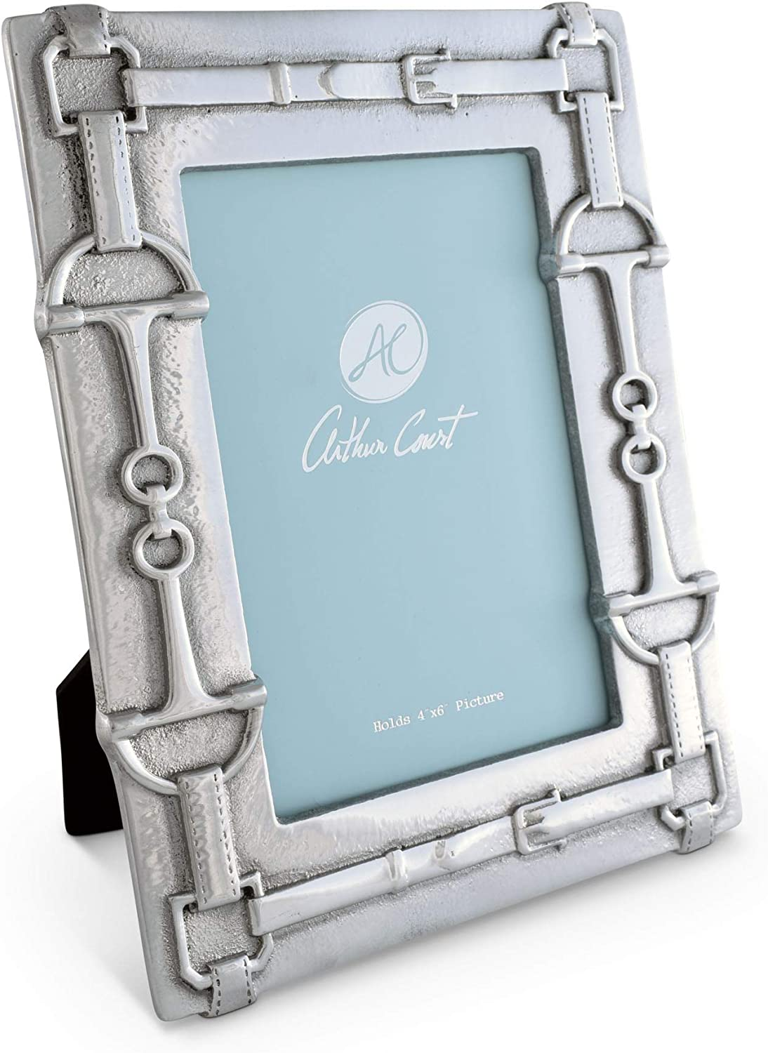 Arthur Court Designs Inventory cleanup selling sale Aluminum 4x6 Photo Equestrian Popular brand Frame Pattern