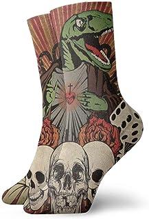 Calcetines de compresión Raptor Jesus Calcetines Casuales Divertidos, Calcetines Finos Tobillo Corto para Exteriores, absorción de Humedad atlética