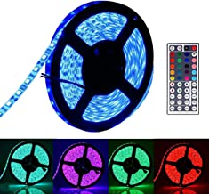 5 Meters LED Light Strip Lighting Strips Kit Decoration Lights with Remote Control USB 5050 RGB Waterproof Lamp for TV Back Kitchen Hotel Home Theater Laptop PC Monitor Bicycle (Multi-Color)