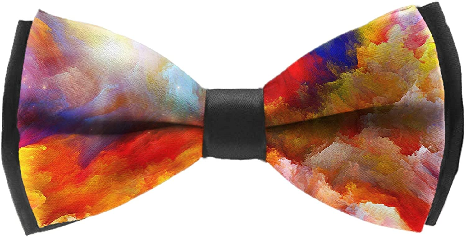 Classic Mens Colorful Rabbit Bunny Pre-tied Bowtie Silk Bow Ties for Men Gifts
