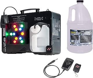 AMERICAN DJ Fog Fury Jett Fog Machine & LED Light Effect w/ Remote + HDF Fluid