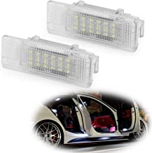 iJDMTOY Xenon White LED Step Courtesy Lights For BMW E39 5 Series, E53 X5, Z8, Powered by 3W 18-SMD LED Lights, Replace OEM Footwell, Side Door Lamps