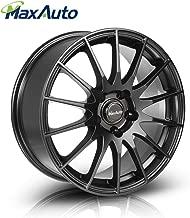 MaxAuto 1 pcs 17x7.5, 5X112, 73.1, 35, Matte Black Rims Alloy Wheels Compatible with Volkswagen Passat 1998-2005,Tiguan CC 2009-17/Audi A4 1996-2017//Audi A6 1995-2004 2006-2017/Audi A5 10-14