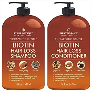 Hair Growth Shampoo Conditioner Set - An Anti Hair Loss Shampoo and Conditioner with 14 DHT blockers to fight Hair Loss Fo...