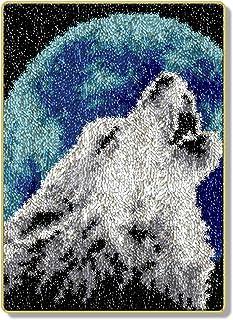 HYYK Kits Fil Crochet Tapis Bricolage, kit Crochet loquet Couture, Tapis Crochet Non Fini, Tapis d'aiguilles à Tricoter, T...