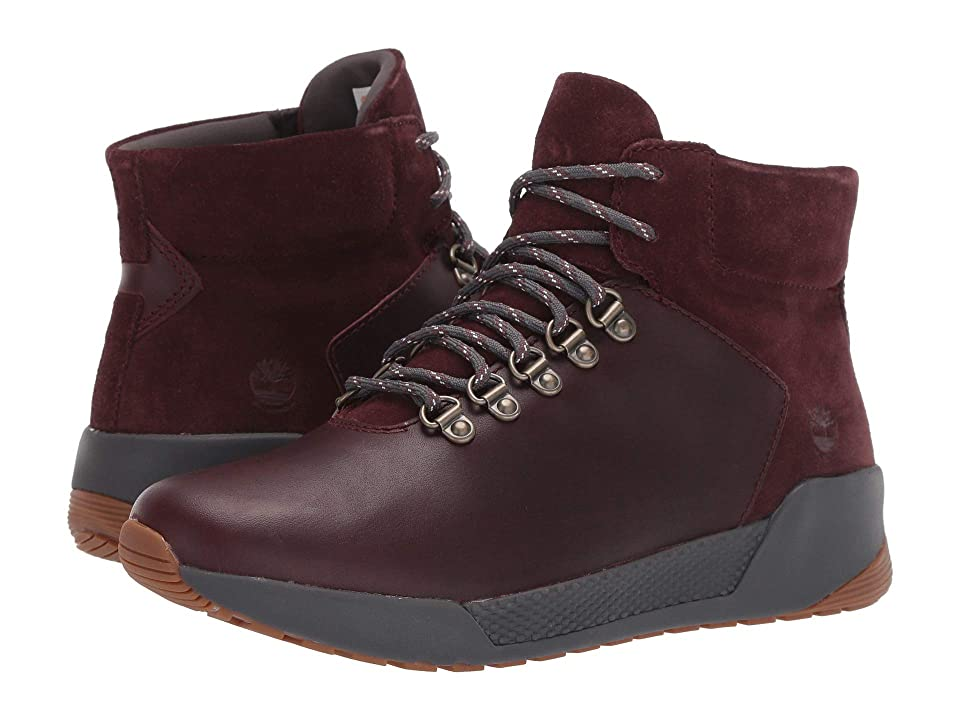 Timberland Kiri Up Waterproof Mid Hiker (Burgundy Full Grain) Women