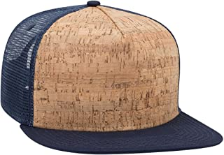 Product of Ottocap Garment Washed Superior Combed Cotton Twill Six Panel Low Profile Dad Hat -NVY/Cork/NVY [Wholesale Price on Bulk]