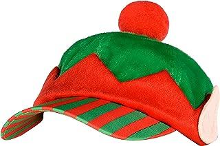 amscan Elf Baseball Fabric Hat | Christmas Accessory