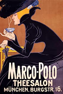 Marco Polo Theesalon - Vintage Advertising Poster Reproduction (24 x 36)