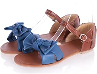 Baqijian Colorful Fashion Summer Sweet Women Flat Sandals Casual Butterfly-Knot Women Shoes Arrival DDM913