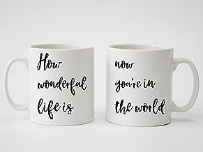 Elton John 'Your Song' Lyrics Personalised Print - Pair of Mugs for Anniversary, Wedding, Engagement