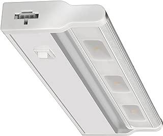 Lithonia Lighting UCLD 18IN 30K 90CRI SWR WH M4 Led Linkable Cabinet Light Swivel Design 3000K, White, 18