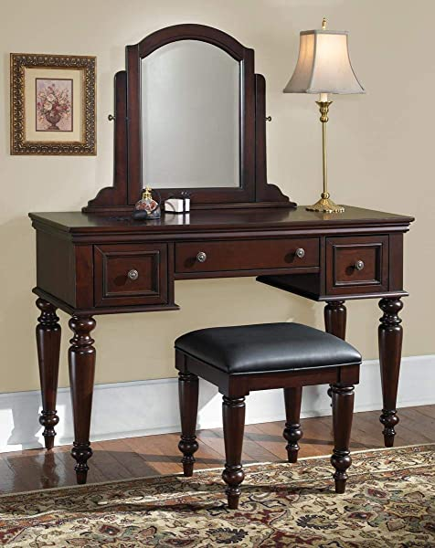 Lafayette Cherry Vanity Table And Bench By Home Styles