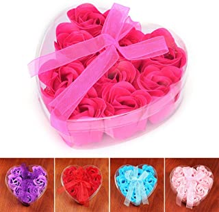 Party Favors - 9pcs Scented Bath Rose Soap Romantic Wedding Favor Shower Home Party Christmas Birthday Valentine - Shower Babies Roller Mermaid Hair Ties Outer Puzzles Your Gloss Unicorn As