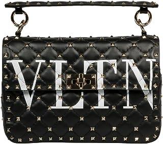 89827ca58 Amazon.com: VALENTINO WOMEN'S BAG ROCKSTUD SHOULDER BLACK