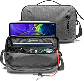 tomtoc Daily Shoulder Bag for 2020 10.9-inch iPad Air 4, 11-inch iPad Pro, Messenger Bag for 9.7-10 inch Tablet, Waterproo...
