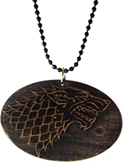 Modish Look Wooden Game of Throne House of Stark Locket