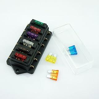 Universal Auto KFZ PKW 6 Wege 40A ATU Standard Sicherungen Sicherungskasten Sicherungshalter Elektroverkabelung