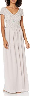 Women's Beaded Gown with Soft Skirt
